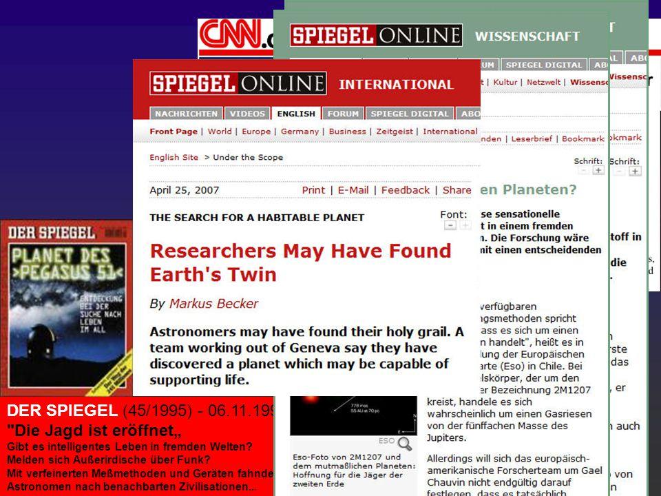 1995: Entdeckung eines Planeten um einen sonnenähnlichen Stern DER SPIEGEL (45/1995) - 06.11.1995