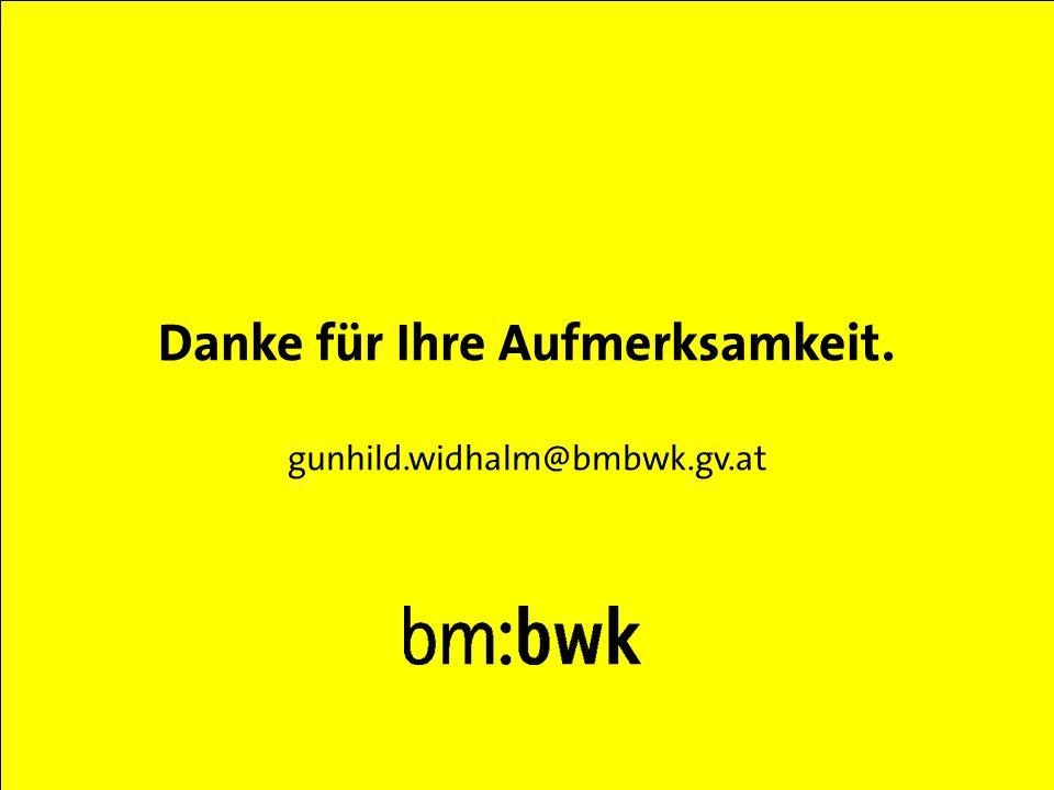 Abt. VI/5 bm:bwk, 17.03.2003 Danke für Ihre Aufmerksamkeit. gunhild.widhalm@bmbwk.gv.at