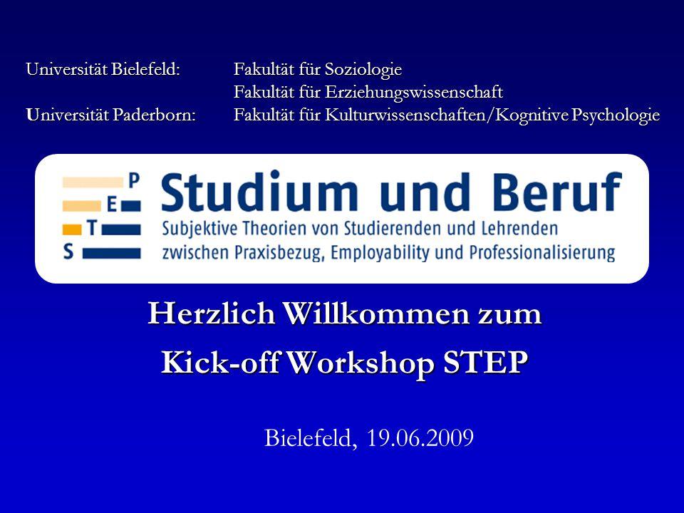 Universität Bielefeld:Fakultät für Soziologie Fakultät für Erziehungswissenschaft Universität Paderborn:Fakultät für Kulturwissenschaften/Kognitive Ps