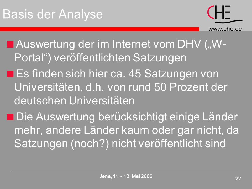 www.che.de 22 Jena, 11. - 13.