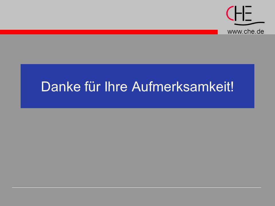 www.che.de Danke für Ihre Aufmerksamkeit!