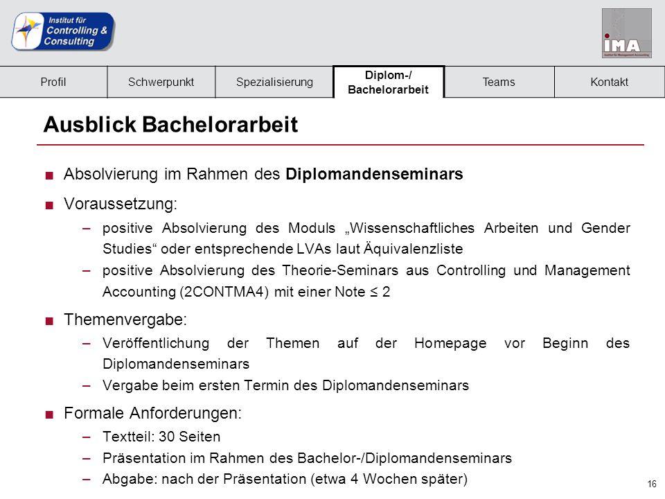 17 Team – Institut für Controlling und Consulting Frau Krieg MMag.