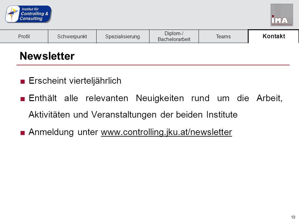 20 Kontakt ■Institut für Controlling und Consulting –Managementzentrum, 4.