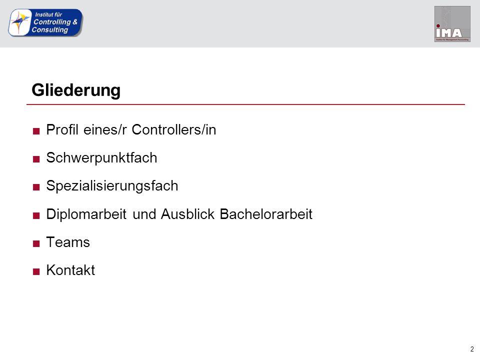 """3 Rolle des/r Controllers/in Profil SchwerpunktSpezialisierung Diplom-/ Bachelorarbeit TeamsKontakt ■""""Steuerlotse des Unternehmens"""