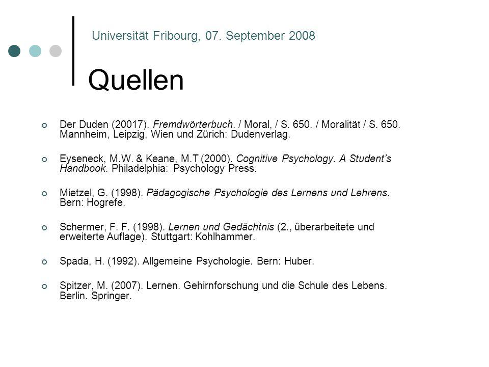 Quellen Der Duden (20017). Fremdwörterbuch. / Moral, / S. 650. / Moralität / S. 650. Mannheim, Leipzig, Wien und Zürich: Dudenverlag. Eyseneck, M.W. &