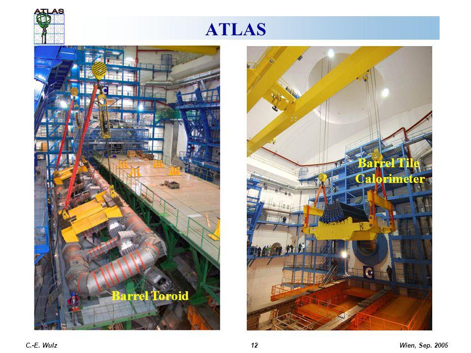 Wien, Sep. 2005 C.-E. Wulz12 ATLAS Barrel Toroid Barrel Tile Calorimeter