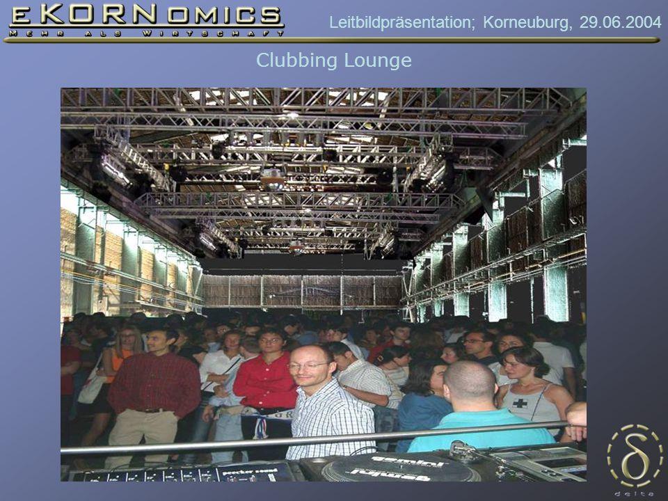 Leitbildpräsentation; Korneuburg, 29.06.2004 Clubbing Lounge