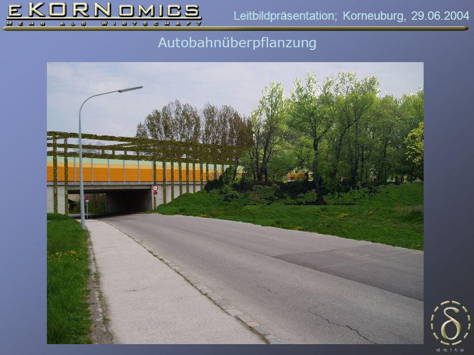 Leitbildpräsentation; Korneuburg, 29.06.2004 Autobahnüberpflanzung