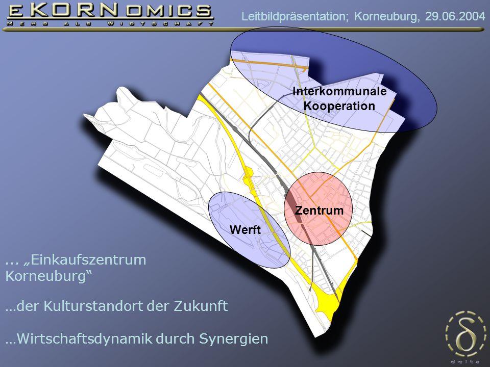 Leitbildpräsentation; Korneuburg, 29.06.2004 Werft Zentrum Interkommunale Kooperation...