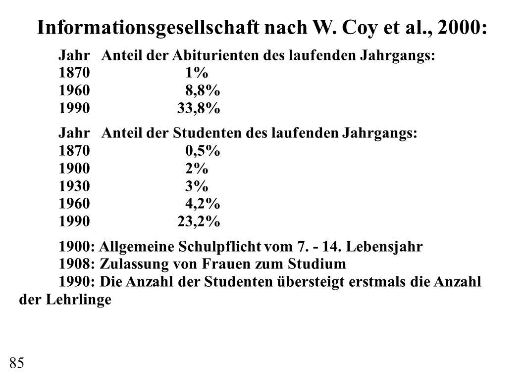Informationsgesellschaft nach W.