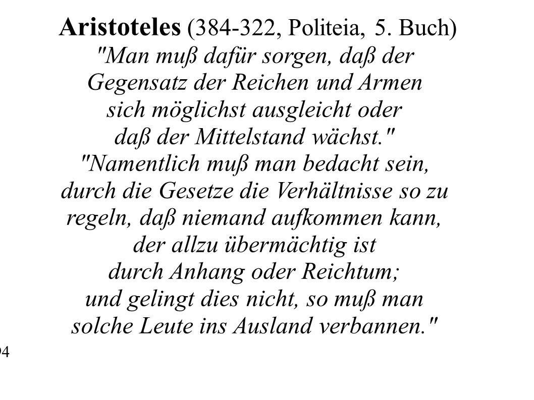 Aristoteles (384-322, Politeia, 5.