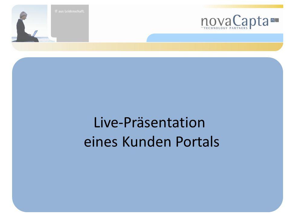 Live-Präsentation eines Kunden Portals