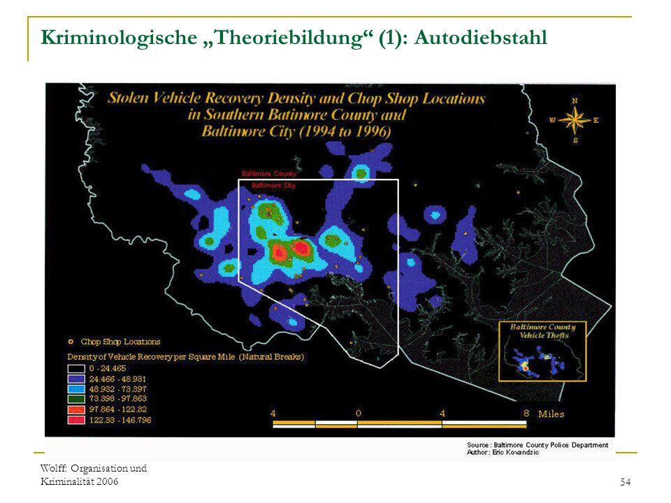 """Wolff: Organisation und Kriminalität 200654 Kriminologische """"Theoriebildung"""" (1): Autodiebstahl"""