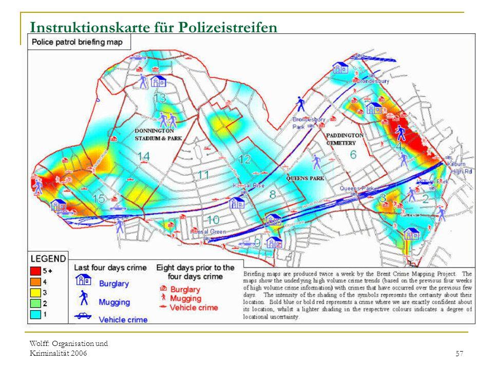 Wolff: Organisation und Kriminalität 200657 Instruktionskarte für Polizeistreifen
