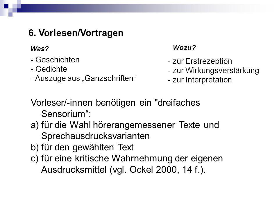 Wo man sich informieren kann Grundlagen und Überblicksdarstellungen Abraham, Ulf: Reflexives Sprechen.
