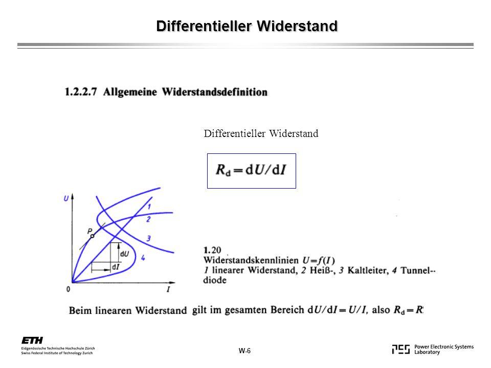Differentieller Widerstand W-6