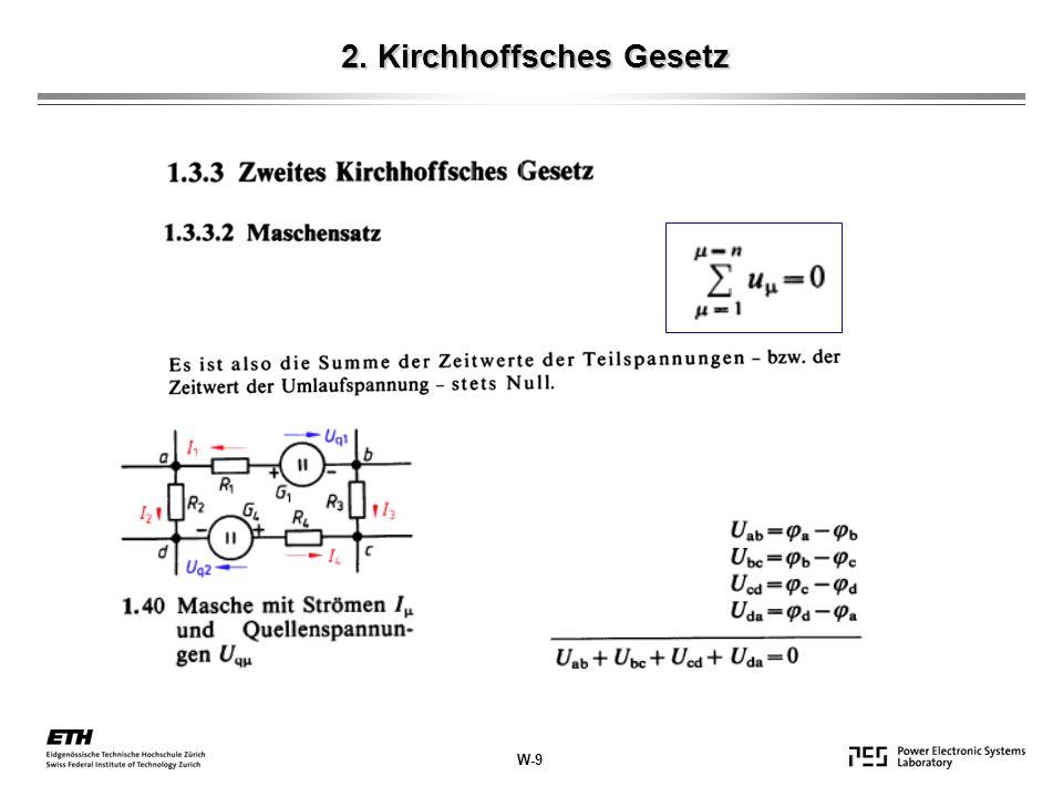 2. Kirchhoffsches Gesetz W-9