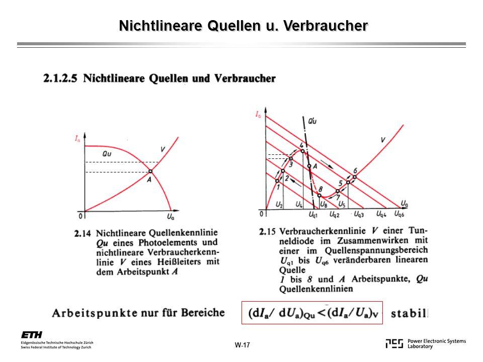 W-17 Nichtlineare Quellen u. Verbraucher