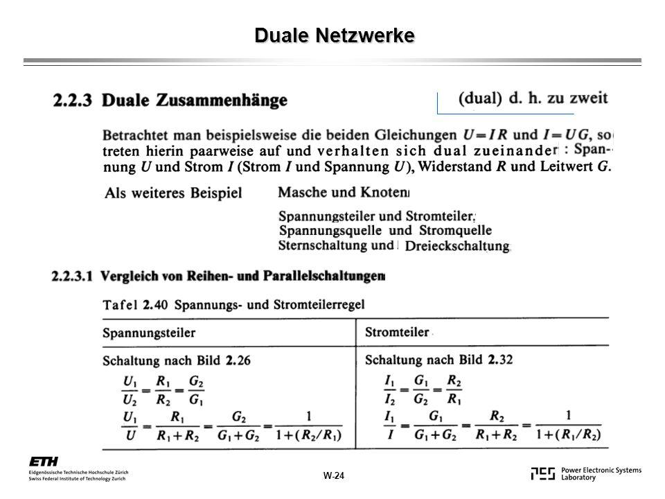 Duale Netzwerke W-24