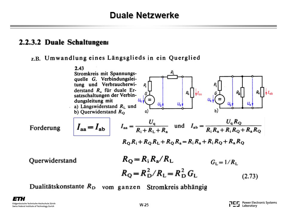 z.B. Duale Netzwerke W-25