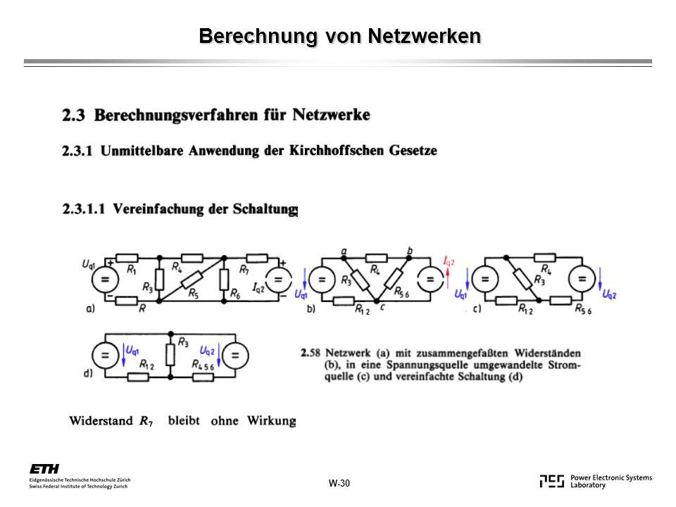 Berechnung von Netzwerken W-30