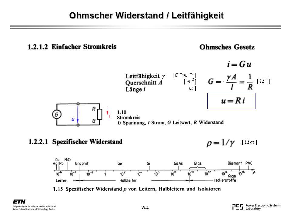 Ohmscher Widerstand / Leitfähigkeit W-4