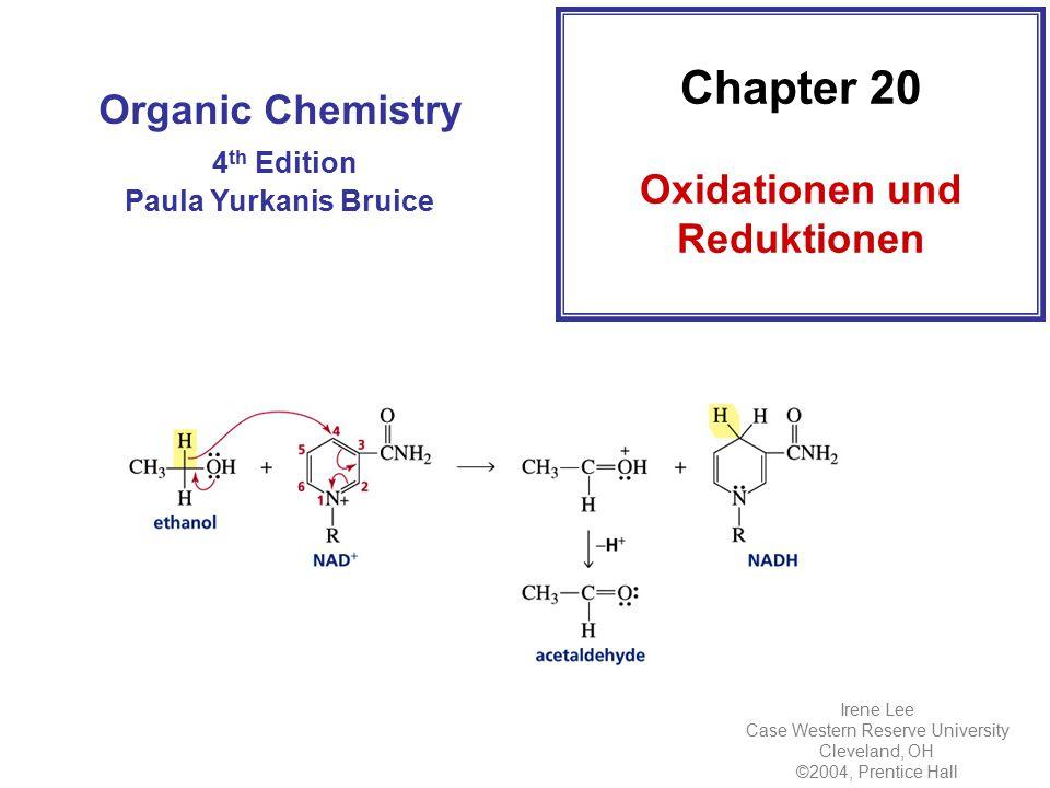 Oxidation und Reduktion sind immer gekoppelt Elektronenabgabe = Oxidation Elektronenaufnahme = Reduktion The oxidation state of a carbon atom equals the total number of its C–O, C–N, and C–X bonds NEIN!!!!!!!