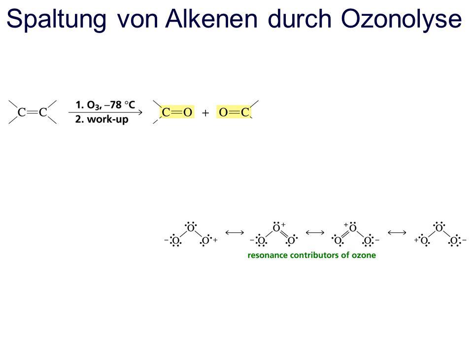 Spaltung von Alkenen durch Ozonolyse