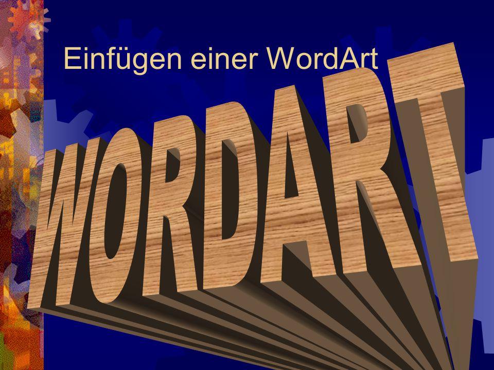 Einfügen einer WordArt