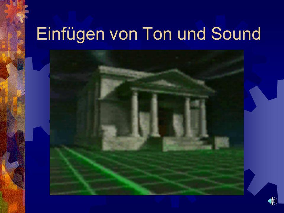 Einfügen von Ton und Sound