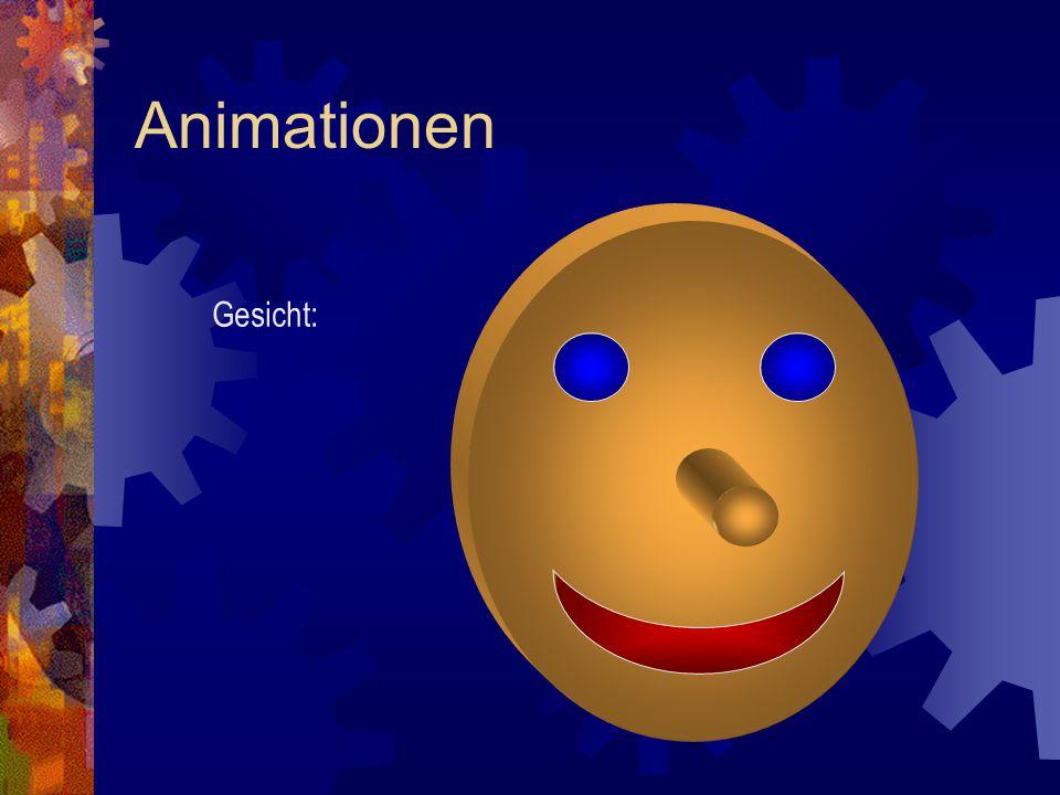 Animationen Gesicht: