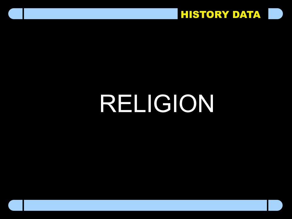HISTORY DATA RELIGION