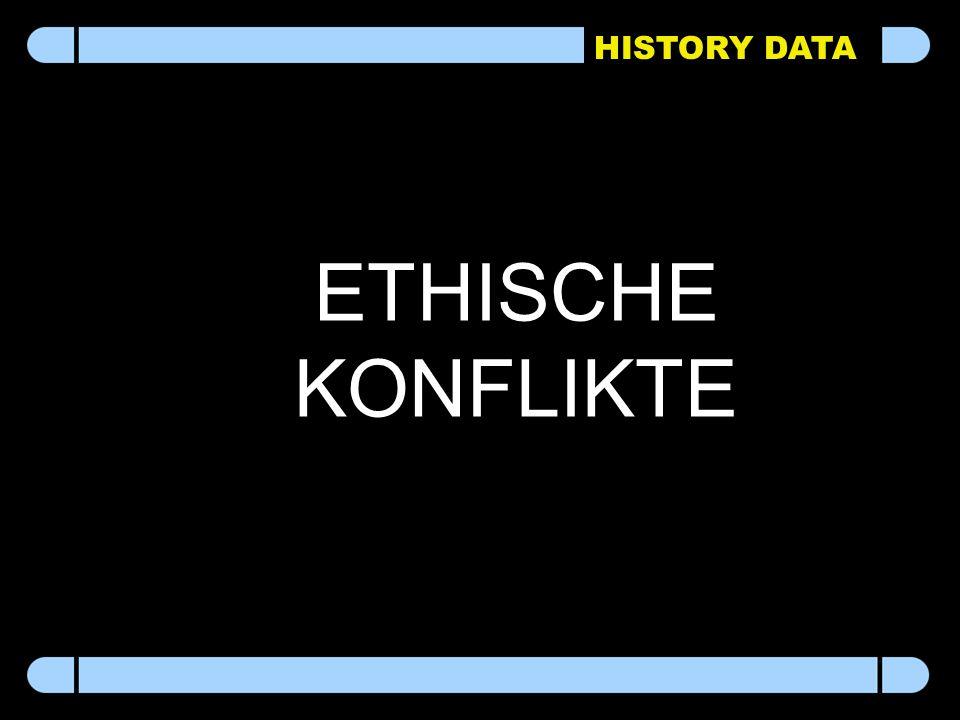 HISTORY DATA ETHISCHE KONFLIKTE