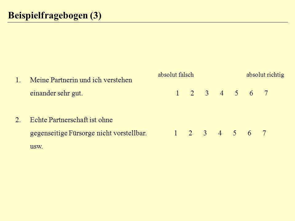 Testgütekriterien (2) 3.