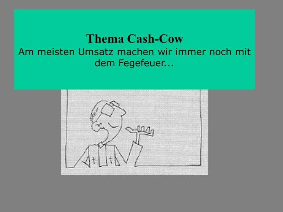 Thema Cash-Cow Am meisten Umsatz machen wir immer noch mit dem Fegefeuer...