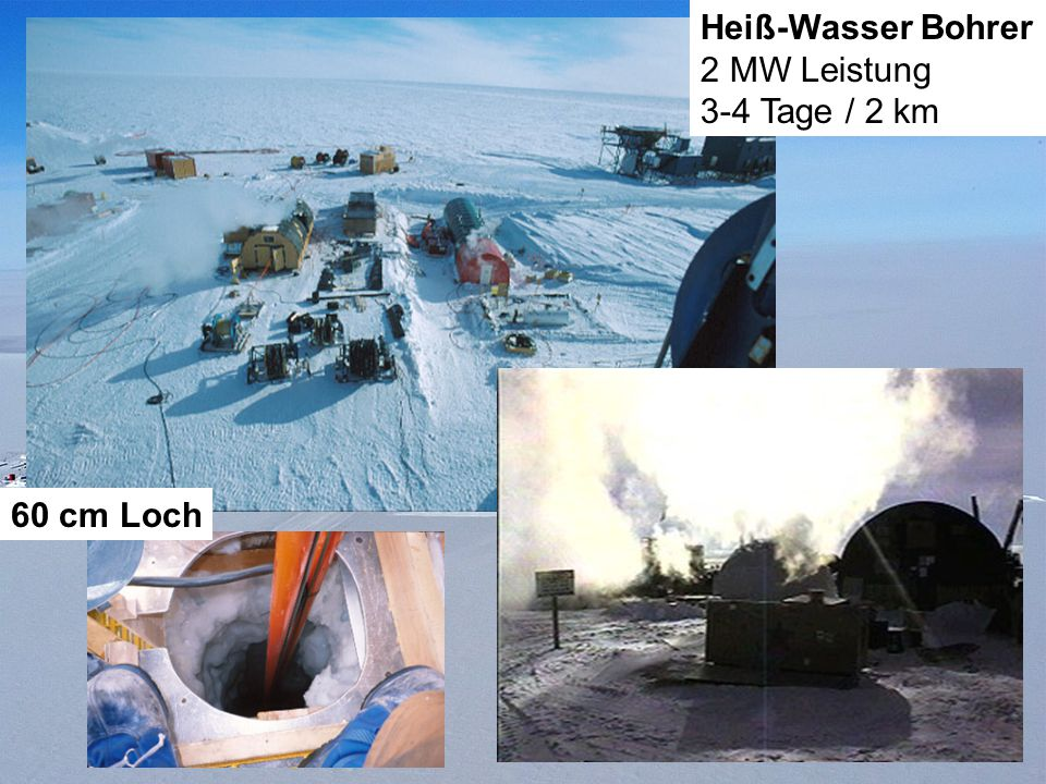 Drilling 60 cm Loch Heiß-Wasser Bohrer 2 MW Leistung 3-4 Tage / 2 km