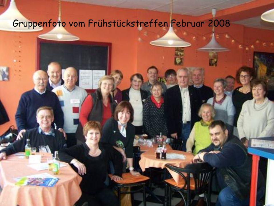 Gruppenfoto vom Frühstückstreffen Februar 2008