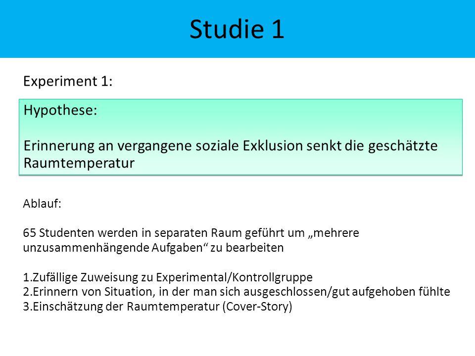 """Experiment 1: Ablauf: 65 Studenten werden in separaten Raum geführt um """"mehrere unzusammenhängende Aufgaben"""" zu bearbeiten 1.Zufällige Zuweisung zu Ex"""