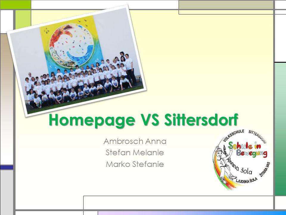 Homepage VS Sittersdorf Ambrosch Anna Stefan Melanie Marko Stefanie