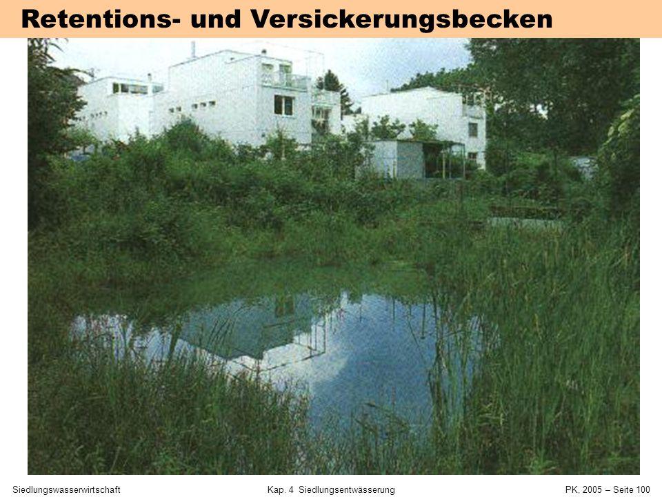 SiedlungswasserwirtschaftKap. 4 Siedlungsentwässerung PK, 2005 – Seite 99 Mulden-Rigolen-System Sieker (2001)