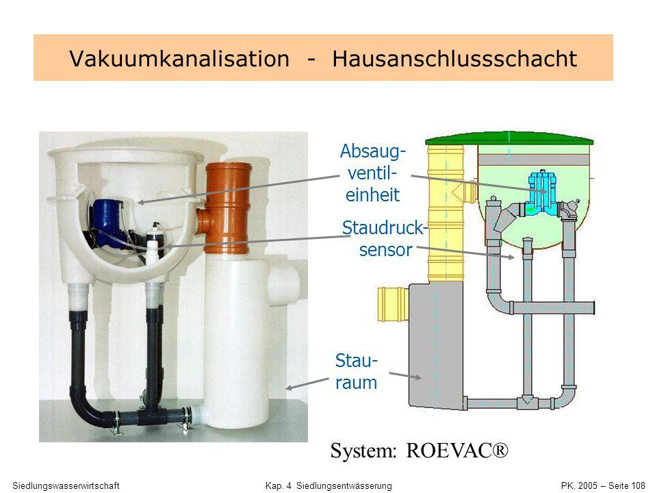 SiedlungswasserwirtschaftKap. 4 Siedlungsentwässerung PK, 2005 – Seite 107 Unterdruckentwässerung Systemzeichnung, Fa. Roediger