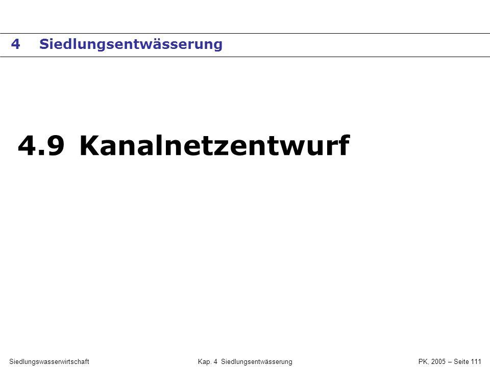 SiedlungswasserwirtschaftKap. 4 Siedlungsentwässerung PK, 2005 – Seite 110 Regenwassernutzung
