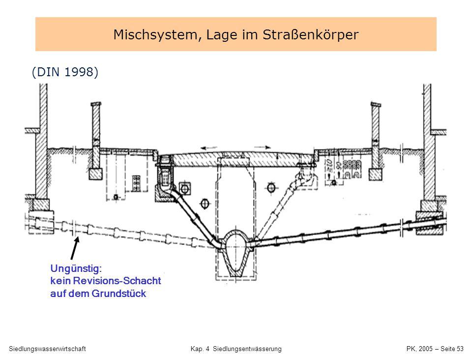 SiedlungswasserwirtschaftKap. 4 Siedlungsentwässerung PK, 2005 – Seite 52 Mischsystem