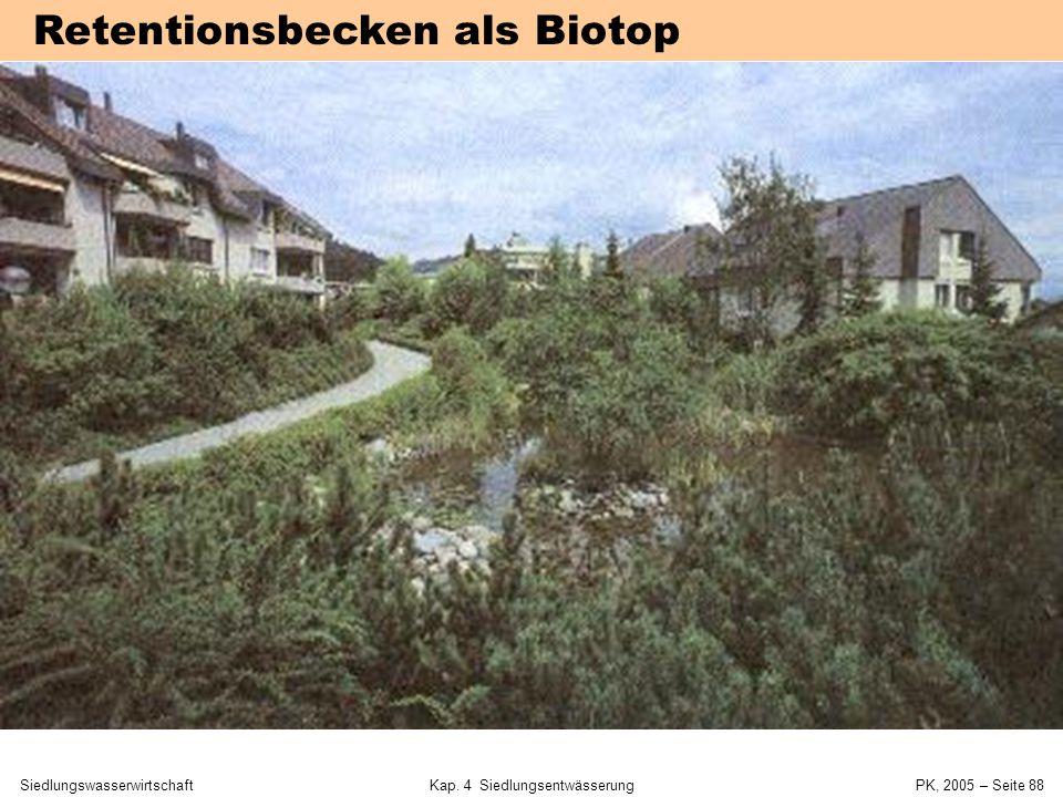 SiedlungswasserwirtschaftKap. 4 Siedlungsentwässerung PK, 2005 – Seite 87 Regenrückhalt durch begrüntes Dach