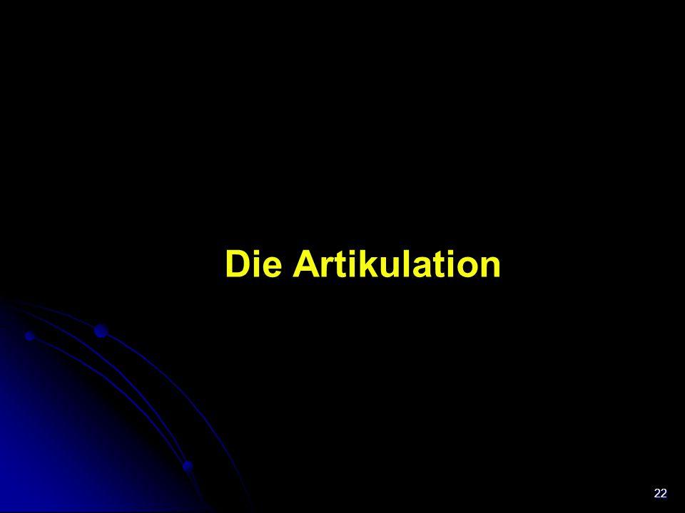 22 Trachea Die Artikulation