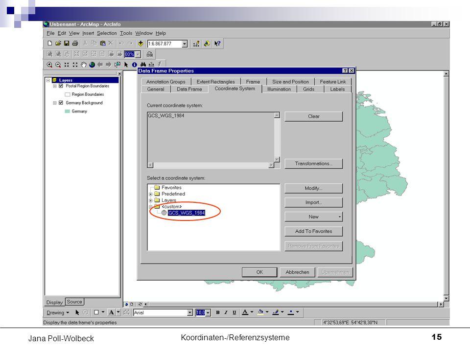 Koordinaten-/Referenzsysteme15 Jana Poll-Wolbeck