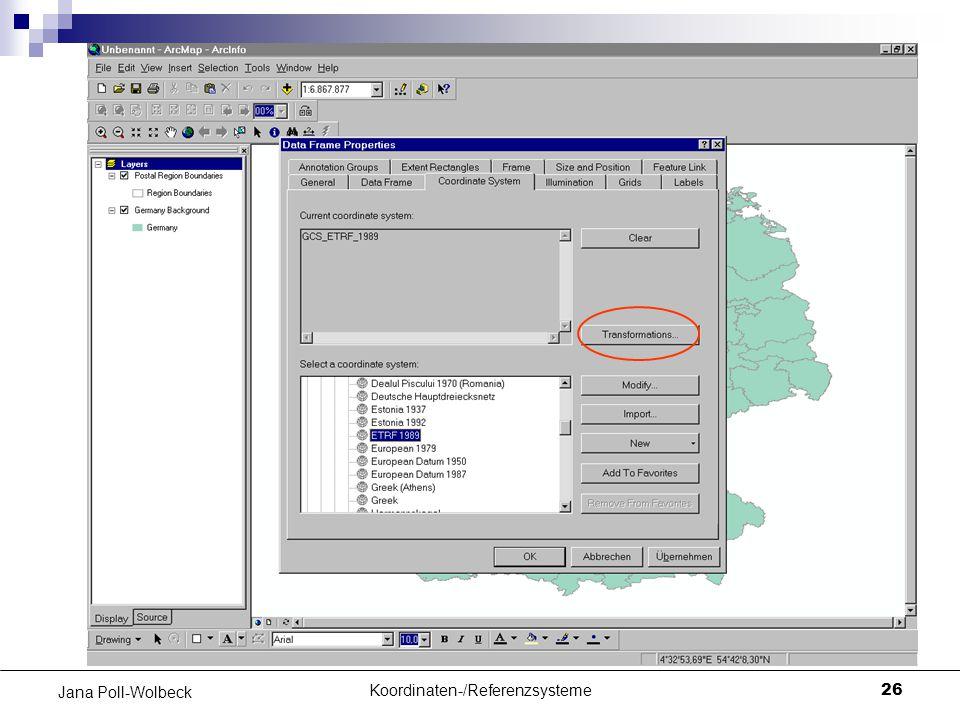 Koordinaten-/Referenzsysteme26 Jana Poll-Wolbeck