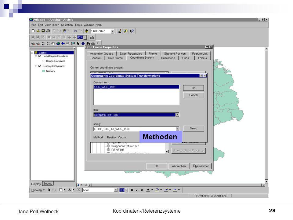 Koordinaten-/Referenzsysteme28 Jana Poll-Wolbeck Methoden