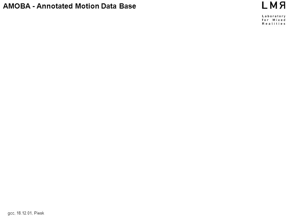 AMOBA - Annotated Motion Data Base gcc, , Piesk