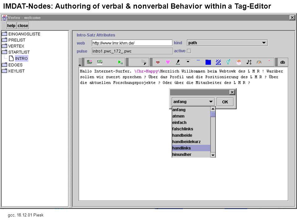 IMDAT-Edges: Keywords trigger state transitions gcc, 18.12.01, Piesk